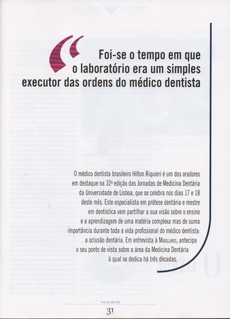 Hilton Riquieri - Revista Maxillaris - Portugal